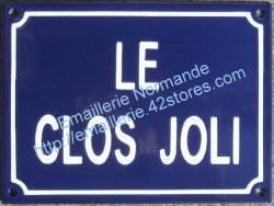 traditionnal french enamel street signs home name le clos joli