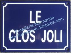 traditionnal french enamel street signs home name le clos joli